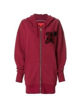 Hilfiger Collection zipped logo hoodie - Red