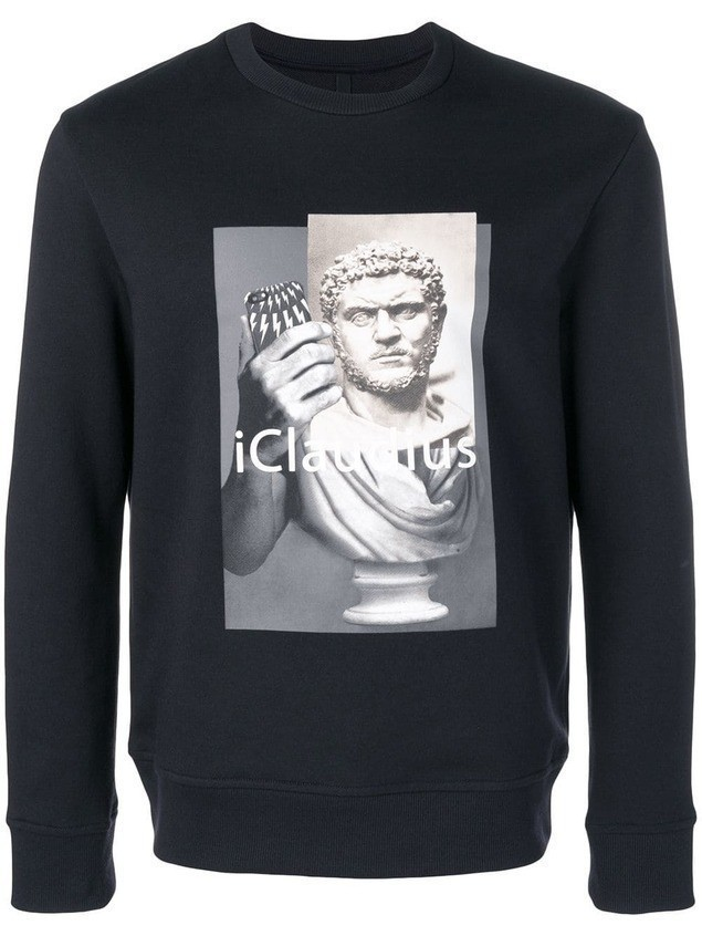 Neil Barrett iClaudius sweatshirt - Blue