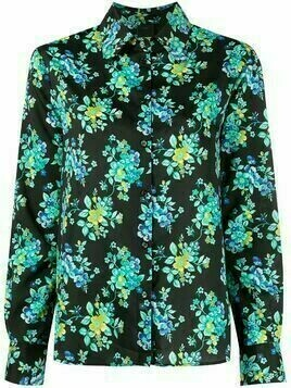 Pinko long-sleeved floral shirt - Black