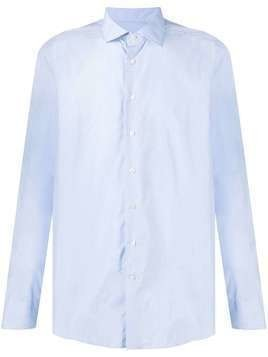 Etro pointed-collar cotton shirt - Blue