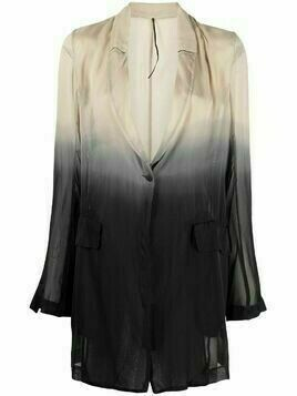 Masnada dip-dyed silk jacket - Black