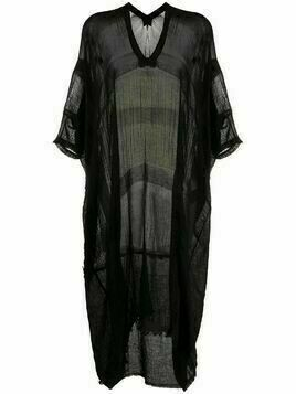 Masnada sheer kaftan dress - Black