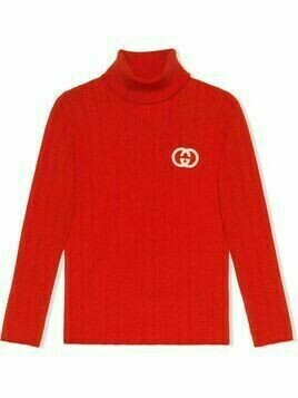 Gucci Kids GG knitted jumper - Red