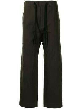 Ziggy Chen drawstring waist trousers - Brown