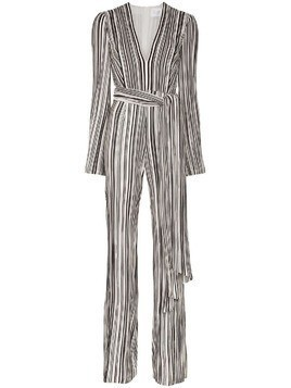 Galvan Taja striped jumpsuit - Black/White