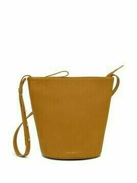 Mansur Gavriel Zip Bucket leather bag - Brown