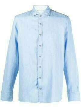 Hackett cotton-linen blend shirt - Blue