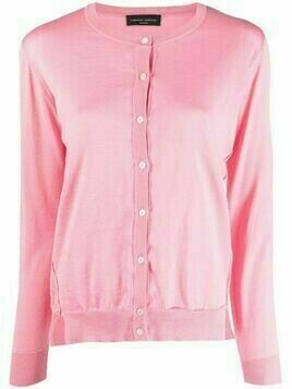Roberto Collina asymmetric cotton cardigan - Pink
