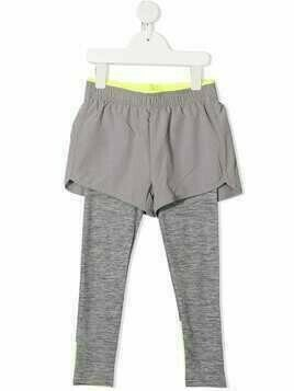 Stella McCartney Kids layered active leggings - Grey