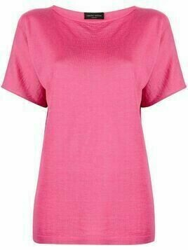 Roberto Collina boat neck cashmere-blend top - Pink