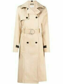 Patrizia Pepe belted trench coat - Neutrals