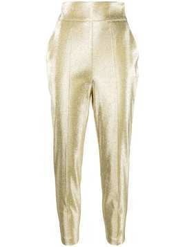 Elisabetta Franchi high-waisted trousers - GOLD