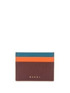 Marni colour-block cardholder - ORANGE