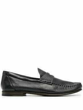 Silvano Sassetti strap-detail leather loafers - Blue