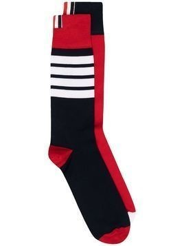 Thom Browne horizontal stripe knitted socks - Blue