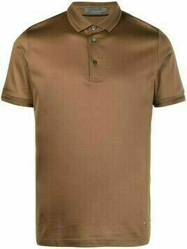 Corneliani short-sleeves cotton polo shirt - Brown