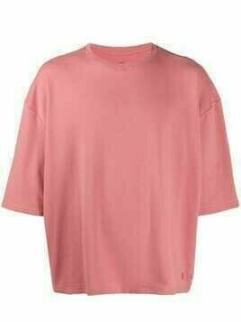 Esteban Cortazar oversized-fit crew neck T-shirt - Pink