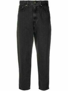 Levi's high waisted cropped jeans - Black