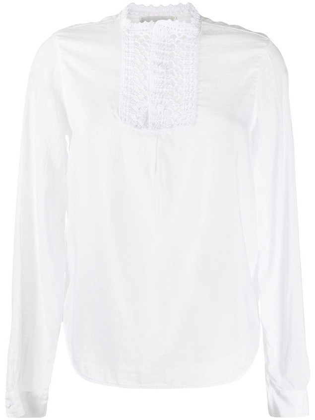 Forte Forte ruffled silk-blend blouse - White
