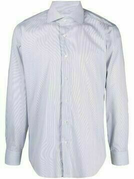 Barba long-sleeve button-front shirt - Blue