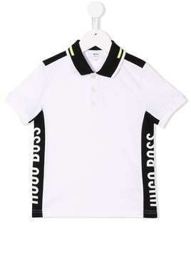 Boss Kids white logo polo top
