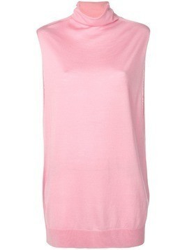 Jil Sander Navy sleeveless oversized top - Pink
