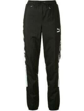 Puma graphic print track trousers - Black