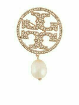 Tory Burch pearl-detailed stud-embellished pin - GOLD