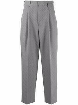 Viktor & Rolf perforated-detail tailored trousers - Grey