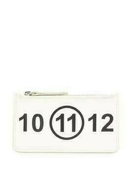 Maison Margiela logo-print card-holder wallet - White
