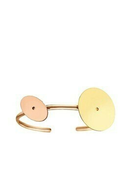 Lito 14kt rose and yellow gold disc cuff - Pink