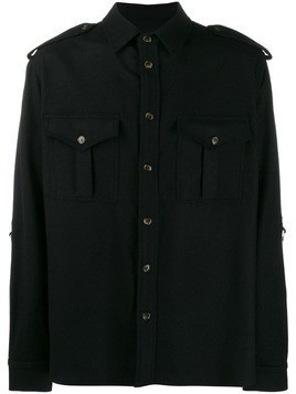 Ih Nom Uh Nit double chest pocket shirt - Black