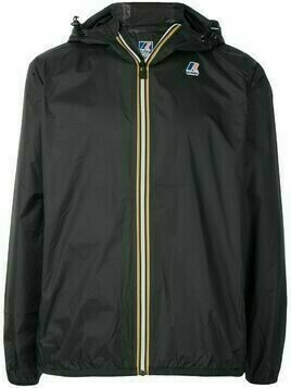 K-WAY R&D logo detail windbreaker jacket - Black