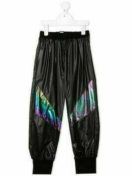 WAUW CAPOW by BANGBANG iridescent panelled trousers - Black