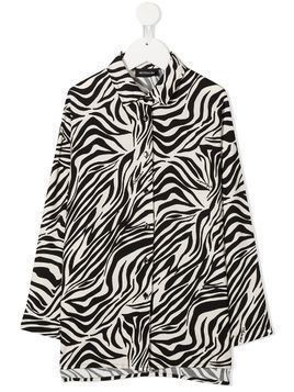 Monnalisa zebra print long-sleeved shirt - Black