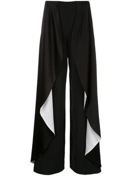 Alice+Olivia Laia ruffled trousers - Black