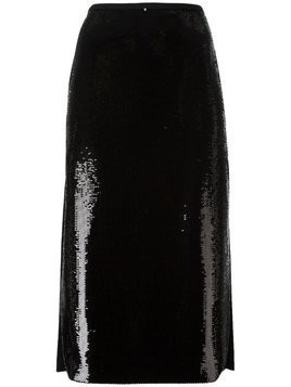 Rochas sequin embellished skirt - Black