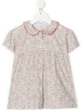 Siola floral-print short-sleeve blouse - Pink