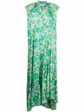 Christian Wijnants long floral dress - Green