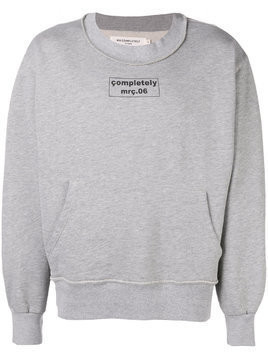 Mr. Completely logo print sweatshirt - Grey