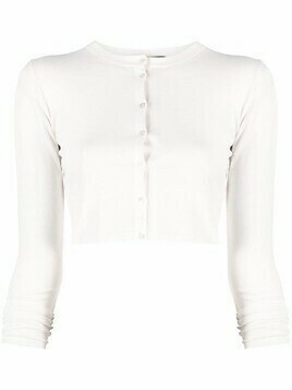 Roberto Collina cropped button-up cardigan - White