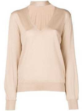 Tom Ford knit choker sweater - Nude & Neutrals
