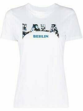 Lala Berlin logo-print cotton T-Shirt - White