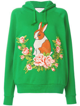 Gucci rabbit oversize sweatshirt - Green