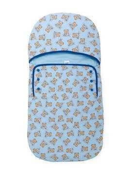 Moschino Kids teddy bear print sleeping bag - Pink & Purple