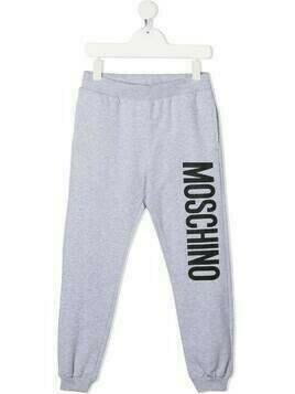 Moschino Kids logo-print track pants - Grey
