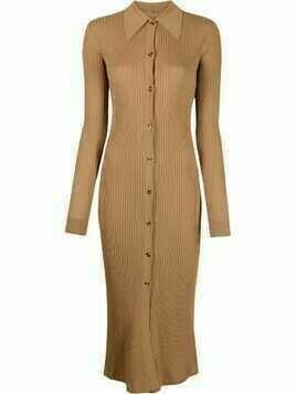 Dodo Bar Or ribbed-knit midi dress - Brown