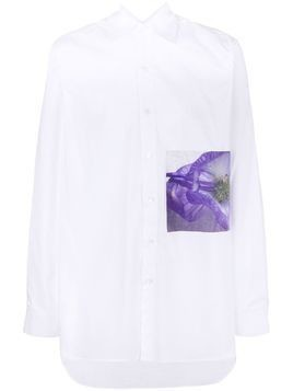 Yuiki Shimoji floral patch long-line shirt - Unavailable