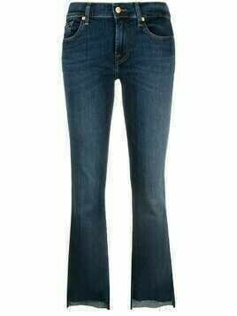 7 For All Mankind cropped flared jeans - Blue