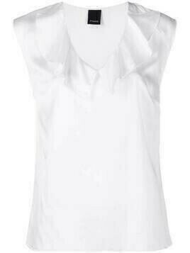 Pinko frilled V-neck blouse - White